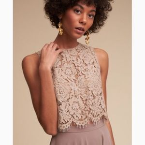 BHLDN Anthropologie Jenny yoo Cleo lace crop top